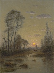 Two Cows in an Evening Landscape