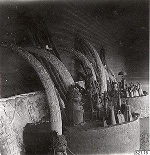 Benin ancestral altars - Akenkua II's, the Oba of Benin, ancestral altars, 1936