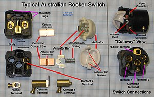 300px Typical_Australian_Rocker_Switch hpm light switch wiring diagram ceiling fan switch wiring diagram typical light switch wiring diagram at creativeand.co