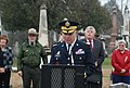 U.S. Army Brig. Gen. Raymond Shields, at lectern, the director of the Joint Staff for the New York National Guard, delivers remarks during a ceremony marking the 231st birthday of former President Martin Van 131205-Z-ZZ999-033.jpg
