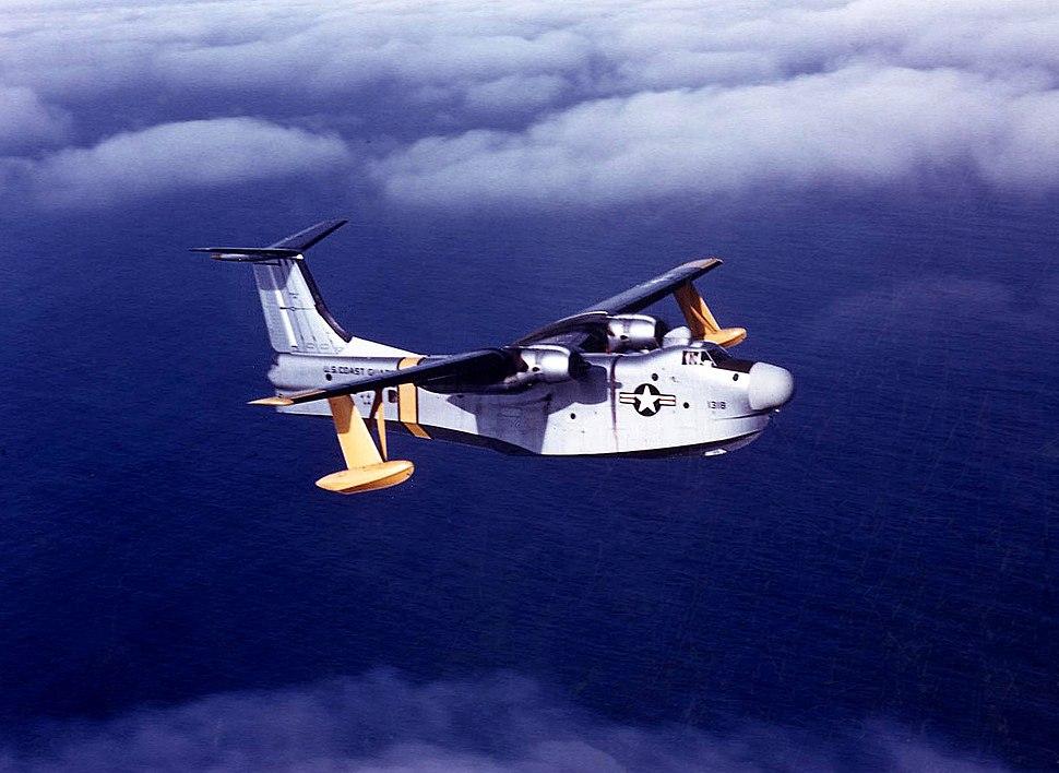 U.S. Coast Guard Martin P5M-2G Marlin in flight on 28 January 1958 (NNAM.2001.261.012)
