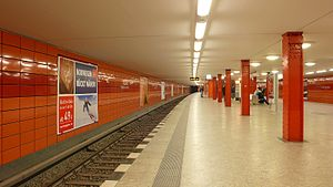 Berlin Frankfurter Allee station - Platform of the subway station