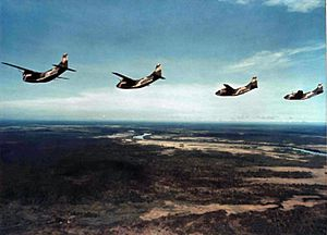 12th Airborne Command and Control Squadron - Squadron UC-123B aircraft over Vietnam
