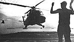 UH-2 Seasprite approaches USS Mount McKinley (LCC-7) 1969.jpg