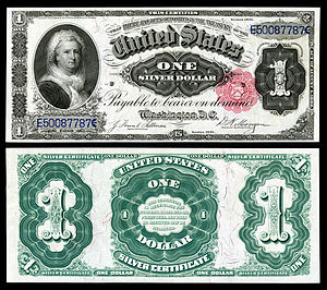Silver certificate (United States) - Image: US $1 SC 1891 Fr.223