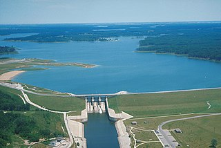 Lake Shelbyville lake of the United States of America