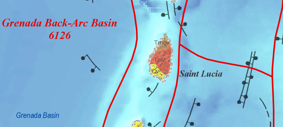 USGS Saint Lucia geologic map