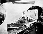 USS James E. Kyes (DD-787) refueling from Midway (CVA-41) c1958.jpg