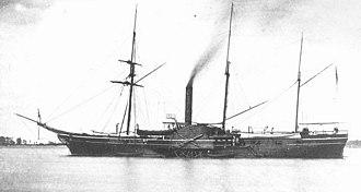 Great Lakes Patrol - An early image of USS Michigan, circa 1860.