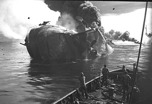 USS Mississinewa (AO-59) - USS Mississinewa (AO-59), sinking on 20 November 1944.