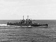 USS Montpelier (CL-57) underway 1944