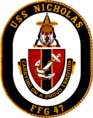 USS Nicholas FFG-47 Crest.png