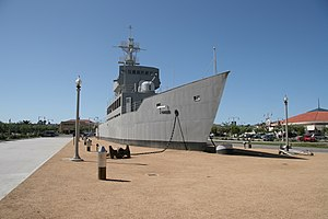 Naval Training Center San Diego - USS Recruit (TDE-1) at Liberty Station (Formerly Naval Training Center), San Diego.