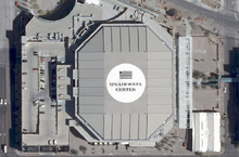 aerial view of then us airways center in 2007