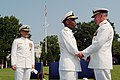 US Navy 030815-N-2383B-124 Rear Adm. Barry C. Black, Chief of Navy Chaplains upon receives the Navy Distinguished Service Medal.jpg