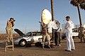 US Navy 040428-N-5362A-018 Photographer's Mate 1st Class Aaron Ansarov prepares to shoot an environmental portrait.jpg