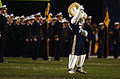 US Navy 051222-N-9866B-037 U.S. Naval Academy Midshipmen mascot Bill the Goat waves to the fans during the pre-game.jpg