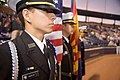 US Navy 060316-N-3271W-004 Independence High School Naval Junior Reserve Officer Training Corps (NJROTC) students present colors at a Colorado Rockies vs. San Diego Padres baseball game.jpg