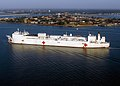US Navy 071015-N-6278K-184 Military Sealift Command (MSC) hospital ship USNS Comfort (T-AH 20) arrives at Naval Station Norfolk after a four-month humanitarian deployment to 12 countries in Latin America and the Caribbean.jpg
