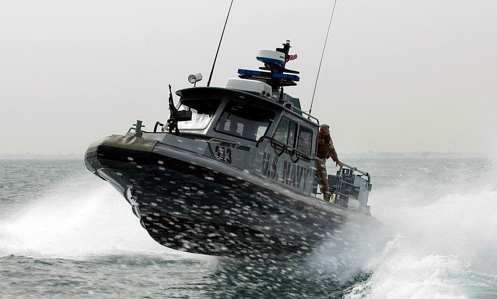 US Navy patrol boat near Kuwait Naval