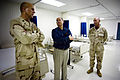 US Navy 090217-N-5549O-168 Rear Adm. Dave Thomas gives Secretary of the Navy the Honorable Dr. Donald C. Winter a tour of the detainee medical facilities at Joint Task Force Guantanamo.jpg