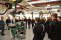 US Navy 100125-N-3008B-005 Cmdr. Edward Johnson, officer in charge, Mechanical Department, Naval Air Technical Training Center speaks with Junior ROTC Cadets from Escambia County High School.jpg