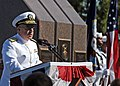 US Navy 101012-N-3737T-126 Adm. J.C. Harvey Jr., commander of U.S. Fleet Forces Command, delivers remarks at the USS Cole Memorial during the 10th.jpg