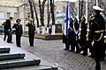 US Navy 110414-N-ZB612-010 Chief of Naval Operations (CNO) Adm. Gary Roughead salutes during a welcoming ceremony at Russian Federation Navy headqu.jpg