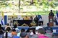 US Navy 110724-F-ET173-099 Commodore Brian Nickerson speaks during a closing ceremony for Continuing Promise 2011 in Acajutla, El Salvador.jpg