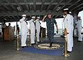 US Navy 111129-N-UE250-013 Side boys render honors.jpg