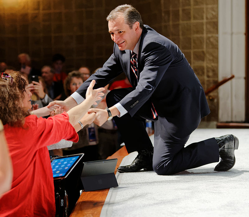 US Senator of Texas Ted Cruz at Citizens United Freedom Summit May 2015 by Michael Vadon 01.jpg