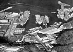 US carriers at Yokosuka Naval Base c1955.jpg