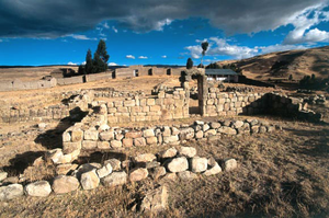 Yauli District, Huancavelica - The archaeological site Uchkus Inkañan in the Yauli District