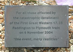 Ufton Nervet rail crash - Plaque in the Area of Reflection next to the level crossing: One event — many realities