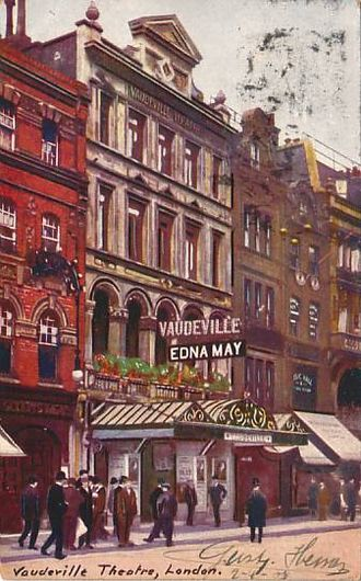 Vaudeville Theatre - Postcard of the Vaudeville Theatre, c. 1905