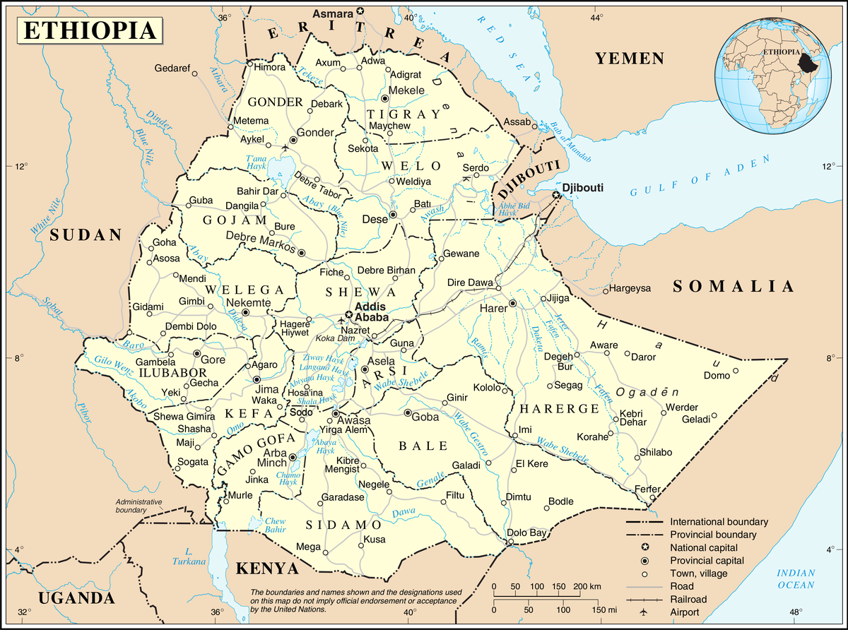 Geography Of Ethiopia Wikipedia - Map of egypt's natural resources
