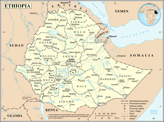 Geography of Ethiopia - A map of Ethiopia