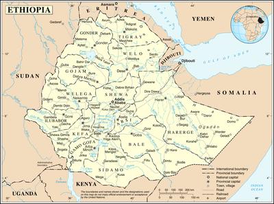 carte ethiopie du nord - Image