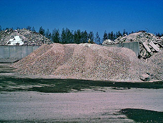 Ungdomshuset - The debris was crushed for recycling and sold.
