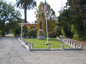 Union Cemetery (Redwood City, California) - Image: Union Cemetery (Redwood City, CA) GAR plot
