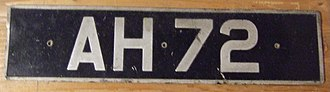 Vehicle registration plates of the United Kingdom - Number plate displaying a vehicle registration mark created between 1903 and 1932