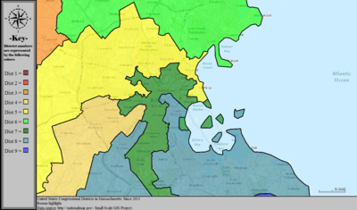 United States Congressional Districts in Massachusetts (metro highlight), since 2013.tif