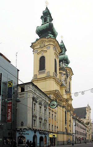 Linz - Church of Saints Michael and Ursula, Linz