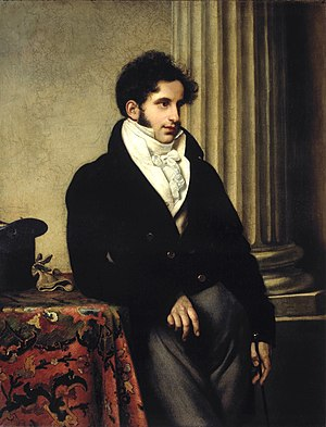 Sergey Uvarov - Uvarov's portrait by Orest Kiprensky, 1815.
