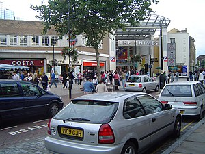 A view of The Chimes mall and Costa Coffee in ...