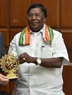 V. Narayanasamy with Ambassador Kenneth I. Juster (cropped).jpg