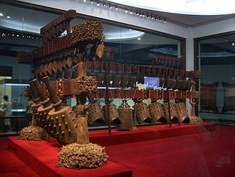 Chinese orchestra - Set of bronze bells (Bianzhong) from the tomb of Marquis Yi of Zeng, 433 BC.