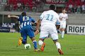 Valais Cup 2013 - OM-FC Porto 13-07-2013 - Danilo et Jordan Ayew.jpg