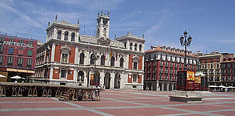 Plaza - Plaza Mayor, Valladolid is a typical Spanish plaza.