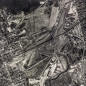 Flushing Meadows–Corona Park - Aerial view of the Corona Ash Dumps, circa the early 1920s